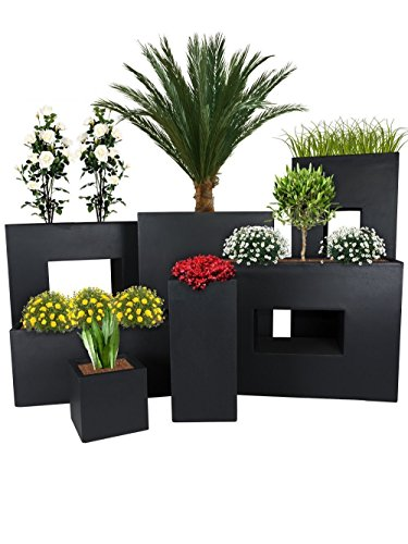 Pflanzwerk® Pflanzkübel TUB Anthrazit 30x60x30cm *Frostbeständiger Blumenkübel* *UV-Schutz* *Qualitätsware*