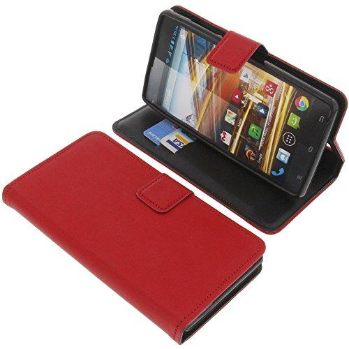 foto-kontor Tasche für Archos 50 Neon Book Style Schutz Hülle Buch rot