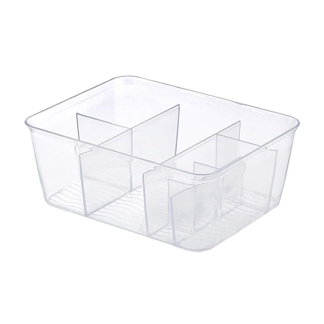 皮肉検閲慣れるプラスチック透明化粧品収納ボックスデスクトップ口紅ジュエリースキンケア製品化粧ブラシ仕上げボックス