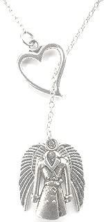 Love Supernatural Castiel Silver Wings Lariat Y Necklace.