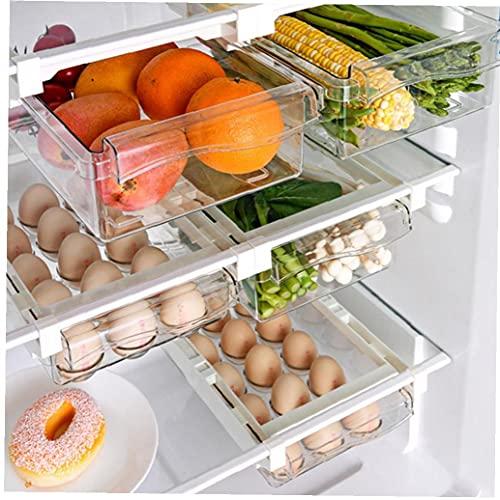 DierCosy Frigorífico Colgantes del cajón de Almacenamiento Caja de la Fruta del alimento de Almacenamiento Caja de Huevos estantes Soporte Caja 2 de Frutas y Verduras 1 Huevo