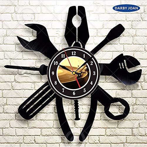 Instruments Cars Gift For Men Vinyl Record Wall Clock Art Home Decor Gift Idea Decorative Vinyl Record Wall Clock 12inch(30cm)