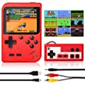 Handheld Game Console, Retro Mini Game Player with 500 Classic FC Games, 3.0 Inch Screen 800mAh Rechargeable Battery Portable Game Console Support TV Connection & Two Players for Kids Adults (Red) by Batlofty