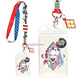 DC Comics Suicide Squad Daddy Lil Monster Harley Quinn Lanyard ID Card Holder