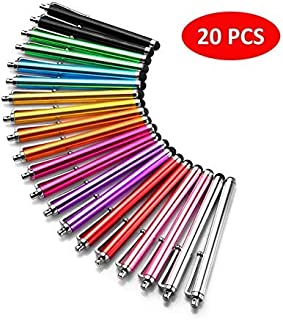 Stylus Pen LIBERRWAY 20 Pack of Pink Purple Black Green Silver Stylus Universal Touch Screen Capacitive Stylus for Kindle Touch ipad iPhone 6/6s 6Plus 6s Plus Samsung S5 S6 S7 Edge S8 Plus Note