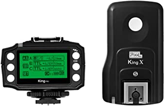 PIXEL King Wireless Shutter Remote Control 1/8000s Transceiver Flash Trigge King PRO 2.4GHz TTL HSS LCD Screen with PC Port for Sony Mi Shoe Cameras Sony A7 A7R A7RII A6300 A65 A77II RX10III