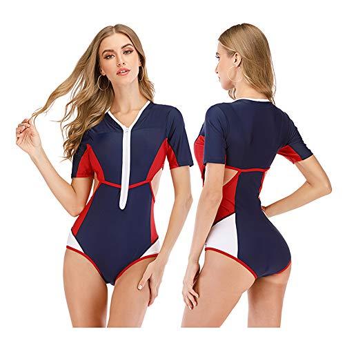 YANH Trajes de baño Tankini Estampados Florales de una Pieza para Mujer Traje de baño Bikini Halter Control de Barriga Baño-C-S