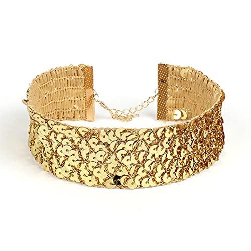 Moda creativa Artículos de nicho de ancho - lado lentejuelas collar joyería...
