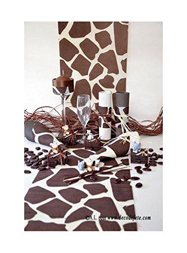LAPLASTOSE 5M Chemin de Table Girafe Chocolat