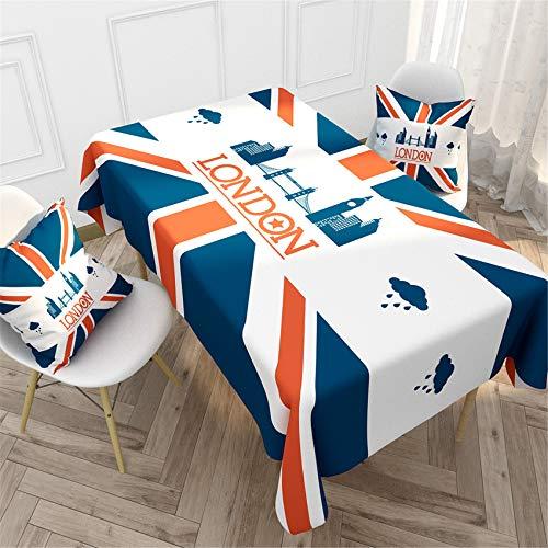 BEDENPIANO Mantel 55,1x86,6 Pulgadas Mantel de Fiesta Británico Fiesta de Cumpleaños de Boda