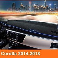 車のダッシュボードカバーダッシュマットサンシェイドダッシュボードパッドカーペットLHDトヨタカローラE140 / E150 2007から2013 2014 2015 2016 2017 2018 (Color : Red side, Size : Corolla 2014 to 2018)