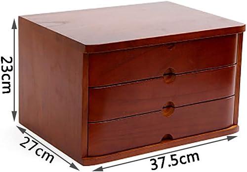 Armoire de Bureau Caisson de RangeHommest Classeur de données Boîte de rangeHommest pour le bureau étagère Cadre de données en bois massif à 3 étages Petite commode Mettre du papier A4 ( Couleur   A )