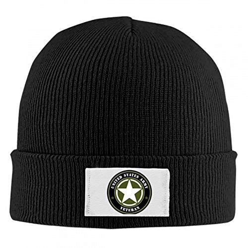 5372 US Army Unisex Winter Warm Wool Cap Skull Hat Quality Woolen Knit Beanie Cap Black