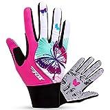 FreeMaster Full Finger Gel Girl's Cycling Gloves Touch Screen Sport Women's Half Fingerless Mountain Road...