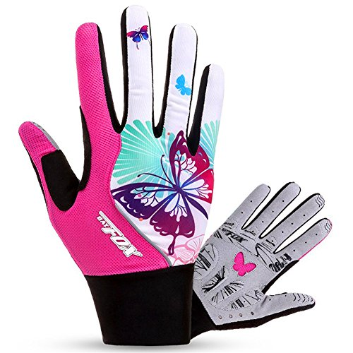 FreeMaster Full Finger Gel Girl's Cycling Gloves Touch Screen Sport Women's Half Fingerless Mountain Road Gloves Bicycle Bike Mittens Pink