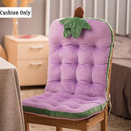 Grazioso cuscino per sedia a dondolo, in vimini, con schienale alto, comodo e con fibbia, cuscino imbottito per panca per bambino/ragazza