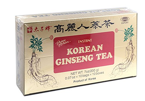 Prince of Peace Korean Ginseng Tea(Instant) 0.07 Oz X 10 Bags X 10 Boxes (1)