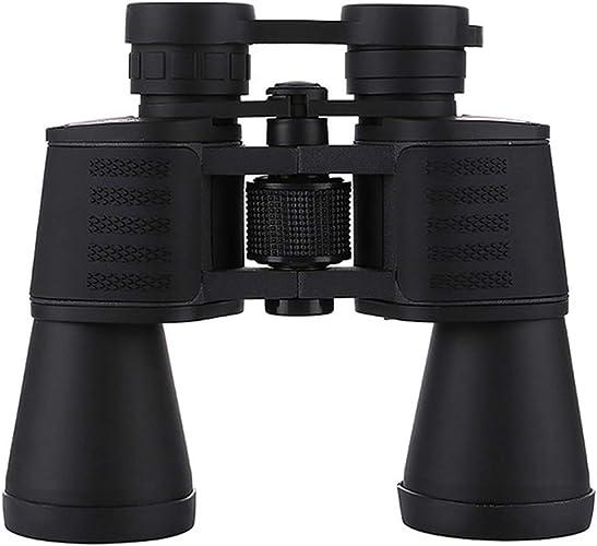 KERVINFENDRIYUN YY4 Jumelles Haute Puissance portables Lunettes d'observation de Vision Nocturne à Faible luminosité de 20X50 Haute définition pour Une Utilisation en extérieur (Couleur   noir)