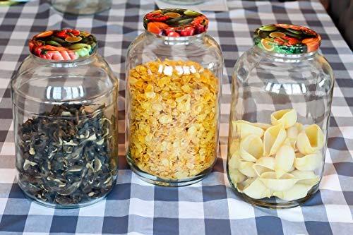 AGROHIT Einmachglas 6 St Gurkenglas Einmachgläser Einweckglas 4 L Glas +Deckel 6 St