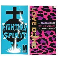 オカモトシー LOVE DOME (ラブドーム) コンドーム パンサー 12個入 + FIGHTING SPIRIT (ファイティングスピリット) コンドーム Mサイズ 12個入