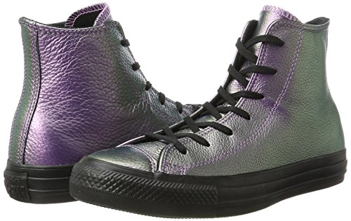 Converse Unisex Adults' CTAS Hi Violet/Black/Black Hi-Top Trainers Multicolour Size: 6 UK