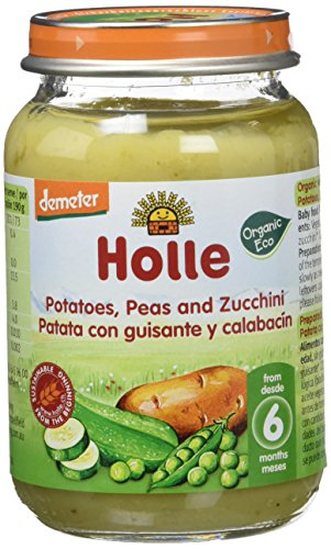 Holle Potito de Patata, Guisantes y Calabacín (+6 meses) - Paquete de 6 x 190 gr - Total: 1140 gr