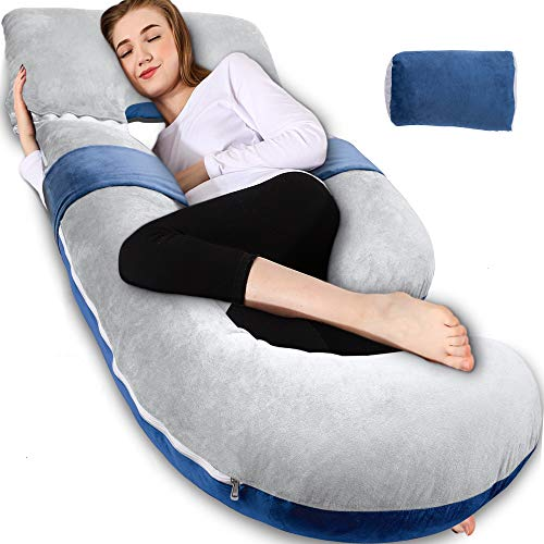 Chilling Home Pregnancy Pillow, 55 inches Full Body Pillow Maternity Pillow for Pregnant Women, 3 in...