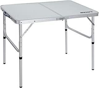 """REDCAMP Aluminum Folding Table 3 Foot, Adjustable Height Portable Camping Table, Sturdy Lightweight 36"""" Camp Table"""