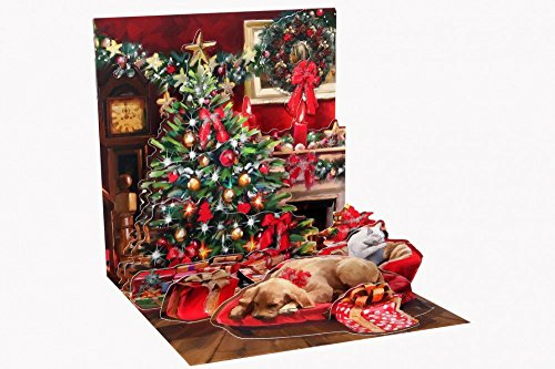 Popshots 3D Pop Fino Biglietto Auguri Di Natale Vacanza Camera (1133)