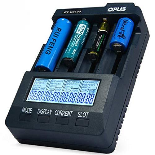 Global Opus BT-C3100 V2.2 4Slots LCD Anzeigen Smart Intelligent Universal Batterie Ladegerät
