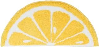 WINLIFE Lemon Door Mat Semicircle Non-Slip Rug for Kitchen