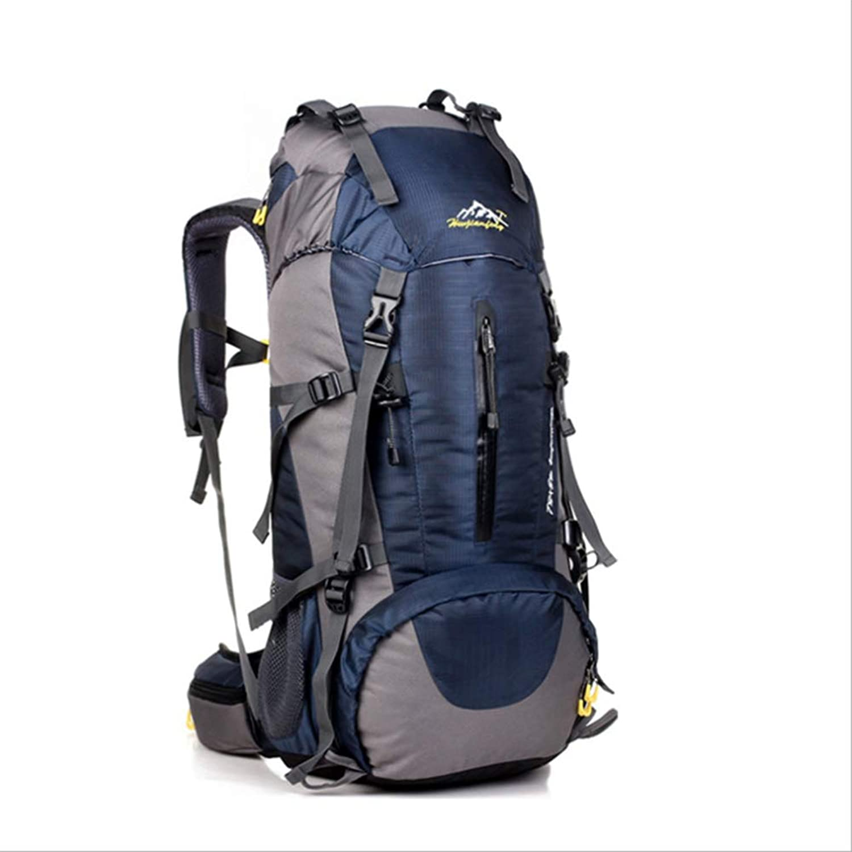 Unbekannt 45 + 5L Leichter Wanderrucksack, Multifunktionaler, Wasserfester Casual Camping Faltbarer Trekking Rucksack Für Den Klettersteig Bergsteiger Outdoor-Sport