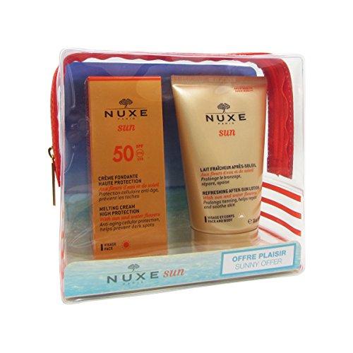 NUXE Sun Trousse Crema Fondente SPF50 Viso 50ml+Latte Doposole Viso Corpo 100ml