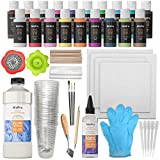 Nicpro Acrylic Pouring Art Supplies, Pouring Medium Starter Kit, 19 Colors Acrylic Paints with Pour Oil, 4...