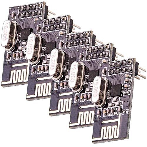 AZDelivery 5 x NRF24L01 mit 2,4 GHz Wireless Module für Arduino, ESP8266, Raspberry Pi…