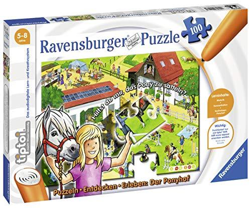 Ravensburger tiptoi Puzzeln, Entdecken, Erleben: Der Ponyhof, ab 5 Jahren, Erwecke das Geschehen auf dem Ponyhof zum Leben