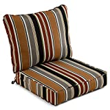 South Pine Porch AM7820-BRICK Brick Stripe 2-Piece Outdoor Deep Seat Cushion Set
