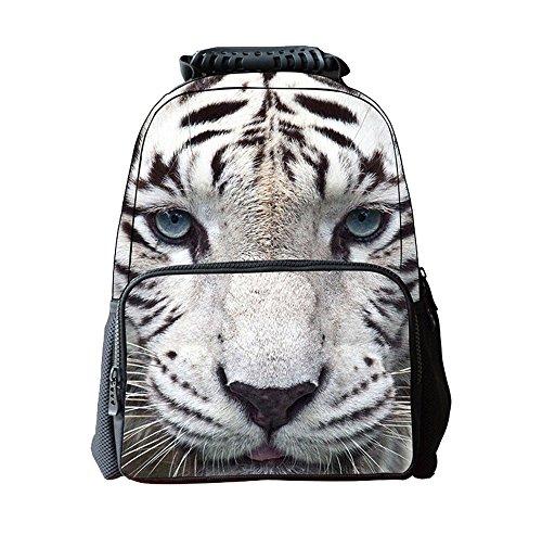 DaoRier Animal Tigre Mochilas Escolares Bolsas Escolares Niños Niñas Size 41 * 30 * 20cm