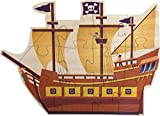 Pirate Ship Shaped Puzzle - Made in USA