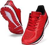 WHITIN Zapatillas de Deporte Hombres Running Zapatos para Correr Gimnasio Sneakers Deportivas Transpirables Rojo 42 EU