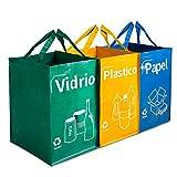 Opret Bolsas Basura Reciclaje 3 Pack Cubo de Reciclaje...