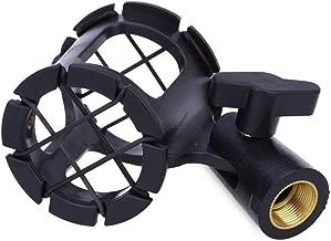 JJNGJ 1Pcs Wireless Universal Microphone Suspension Shock Mount Pencil Clamp Condenser Holder Clip Suitable for Mic Diameter 45mm Black