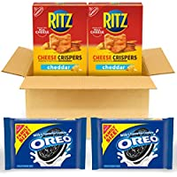 4-Pack OREO Original Flavor Chocolate Sandwich Cookies & RITZ Cheddar Flavor Cheese Crispers Chips