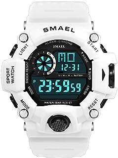 SMAEL - Reloj digital para hombre, deportivo, militar, con función de impermeabilidad y despertador