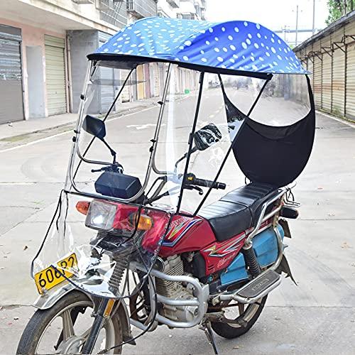 WYB Paraguas semicerrado para Scooter de Motor Mobility Sun Shade & Rain Cover Impermeable, Universal Electric Motorcycle Sunshade Cover,D