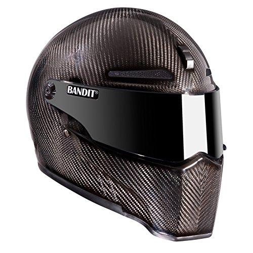 Bandit Helmets Alien II ECE 22-05,geprüft,Kopfbelüftung,Motorradhelm, Sports-Farbe:Carbon, Größe:M(57/58)
