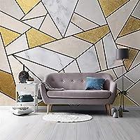 カスタムフォトウォールペーパー家の装飾現代抽象幾何大理石防水壁画壁紙リビングルームのソファテレビの背景,430(W)*300(H)Cm