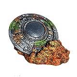 Yinuoday Decoraciones de Acuario Mars Rover Curiosidad Ornamento de Acuario Creativo UFO Decoraciones de Acuario para Accesorios de Peceras