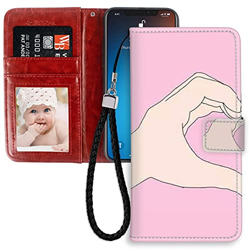 HUAKE Wallet Case fit for iPhone 11 with Best Friend Pattern Premium PU Leather Wallet with Viewing Stand Card Slots Magnetic Buckle Folio Flip Cover Wrist Strap.