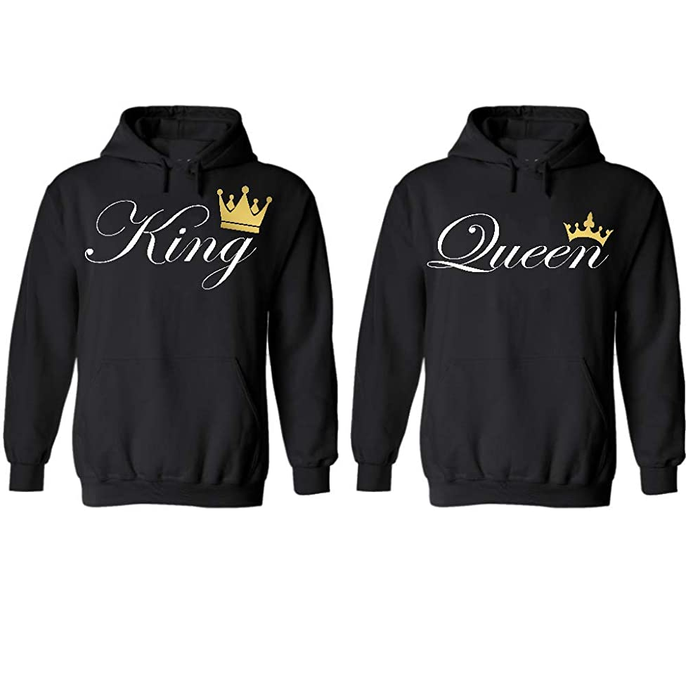 Couple Hoodies Set, Gift for him and her Matching Newlywed Anniversary Wedding Couples Hoodie Hoodie